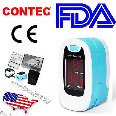 Finger Pulse Oximeter Black Spo2 Blood Oxygen Monitor Heart Rate Caserope50m