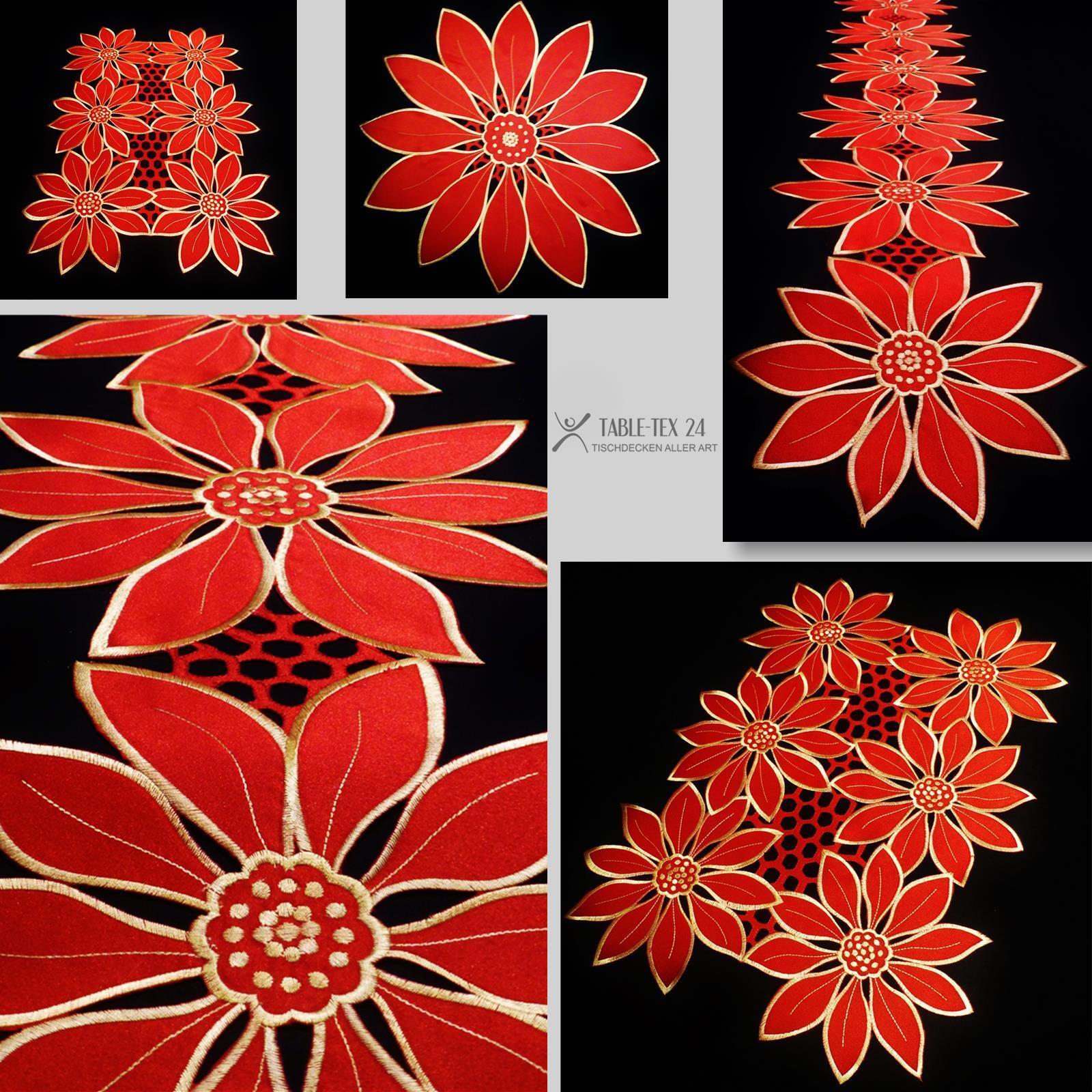 deckchen tischl ufer tischband weihnachten rot gold. Black Bedroom Furniture Sets. Home Design Ideas