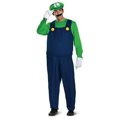 Super Mario Brothers - Luigi Deluxe Adult Costume - New Style Disguise