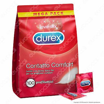 Preservativi DUREX CONTATTO COMFORT 100 Profilattici Confezione Convenienza
