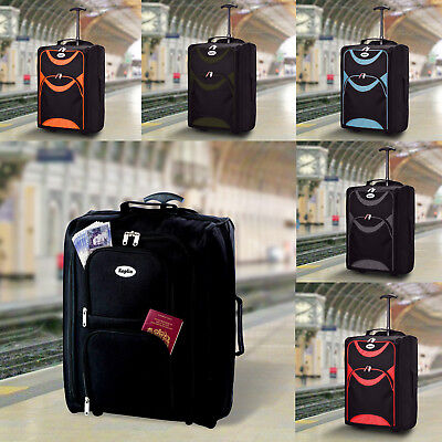 HUMLIN CABIN BAG LIGHTWEIGHT WHEELED CABIN BAG TRAVEL SUITCASE CASE HAND LUGGAGE