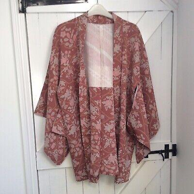 Vintage Japanese Pink Kimono size 10/12/14