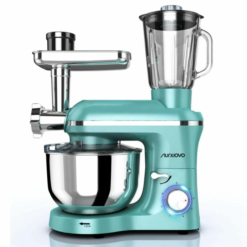 3 in 1 Stand Mixer & Meat Grinder & Juice Extractor with Tilt-Head Mint Green