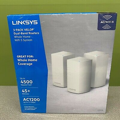 *NEW/SEALED* Linksys Velop Intelligent Mesh WiFi System 3-Pack AC3600 - White