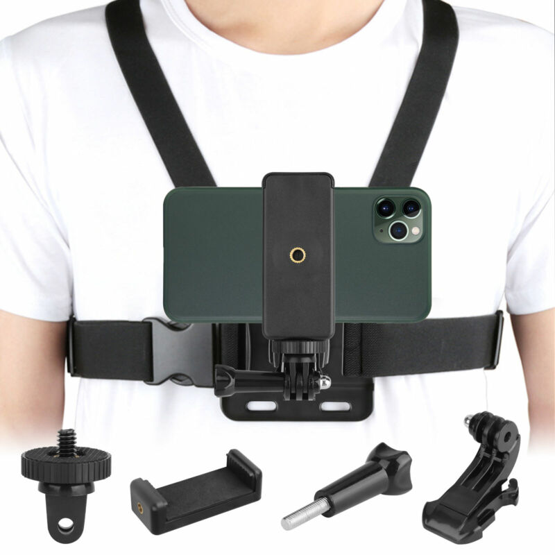 Chest Harness Body Strap Mount Accessories Adjustable for iPhone GoPro Android
