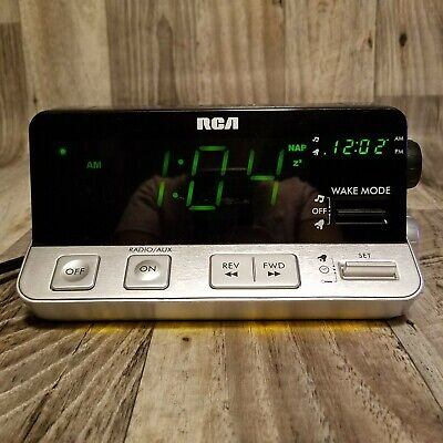 RCA Alarm Clock Radio AM/FM w/ Night Light & Large Display RPC100-A