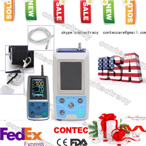 FDA CONTEC ABPM50 Automatic Ambulatory Blood Pressure Monitor 24Hour NIBP,adult