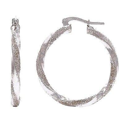 Round Loop Earrings - DEAL! Solid Sterling Silver Round Twisted Loop Hoop Earrings 1.2