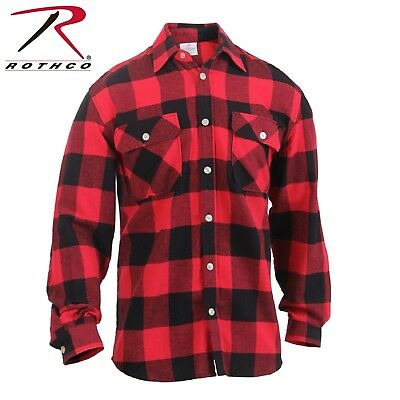 Men's Red/Black Lightweight Flannel Shirt - Rothco Lightweig