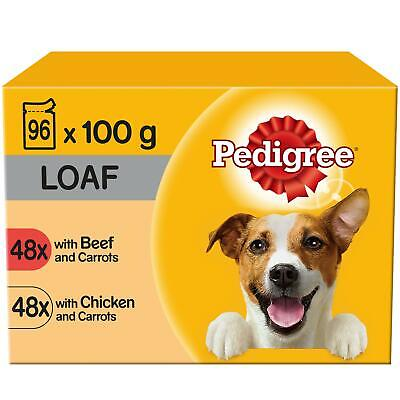 96 x 100g Pedigree Adult Wet Dog Food Pouches Mixed Selection in Loaf