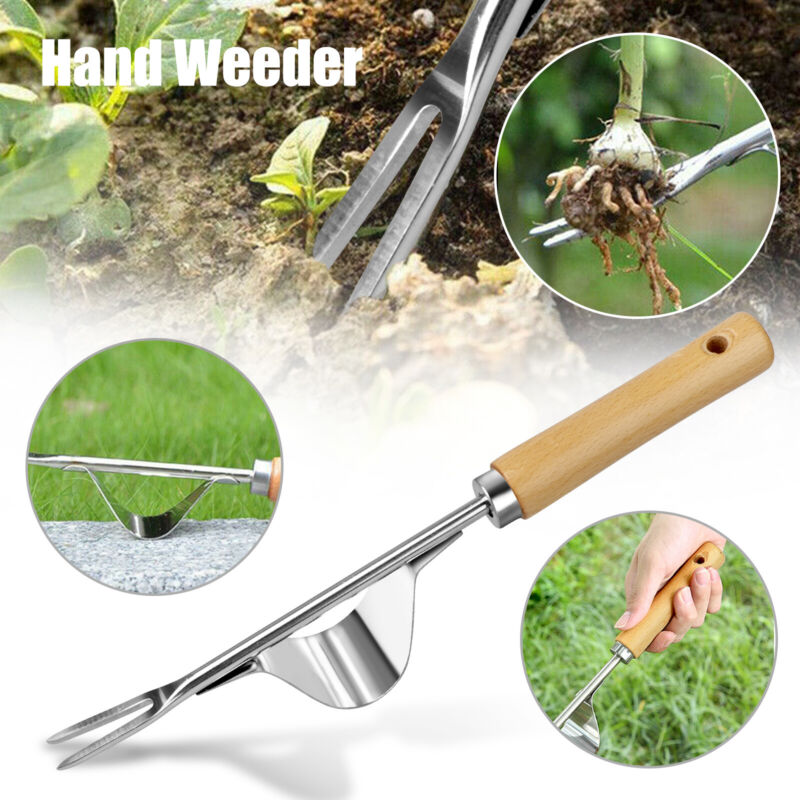 Hand Weeder Weeding Weed Removal Root Remover Puller Tool Fork Garden Lawn Tools