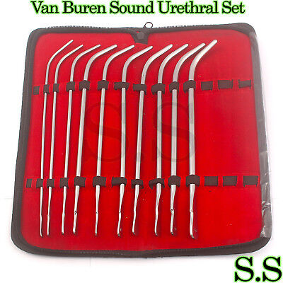 Van Buren Sound Urethral Set Of 10 Surgical Instruments