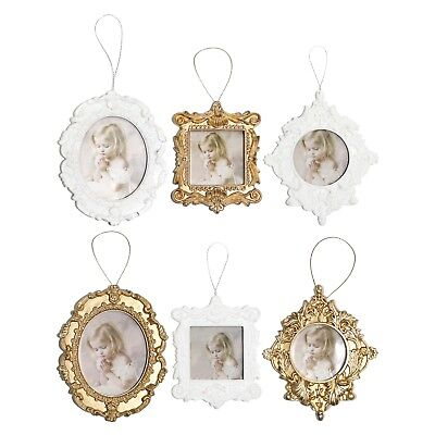- Pack of 6 Gold & White Photo Picture Frame Christmas Tree Pendants Decorations