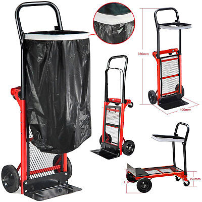 Heavy Duty Folding Truck Hand Sack Trolley Barrow Cart Garden Platform 80kg Red
