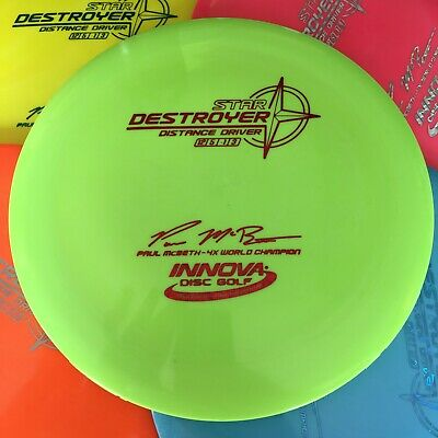 INNOVA OOP 4x Paul McBeth Star Destroyer Disc Golf Driver Pick Your Exact Disc!! Innova Star Destroyer