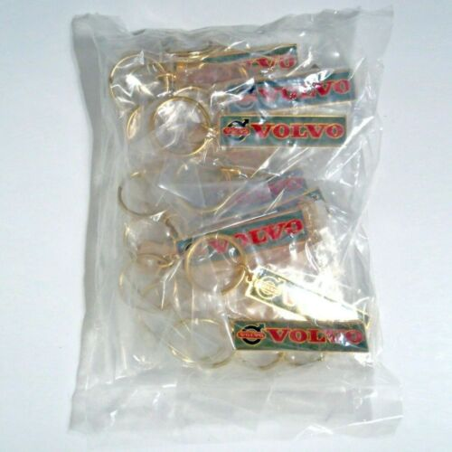 WHOLESALE LOT of 25 VOLVO 1970s Brass Keychains INDIVIDUALLY WRAPPED NOS
