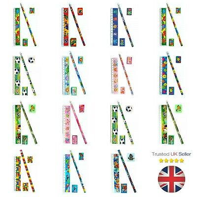 Kids Pencil Sets Children's Stationery Party Loot Bag Fillers Girls Boys UK  - Children's Stationery