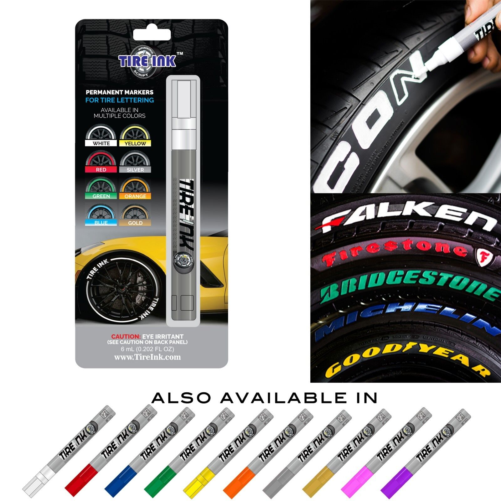 Tire Ink Permanent Marker For Tire Lettering Paint Pen USA S
