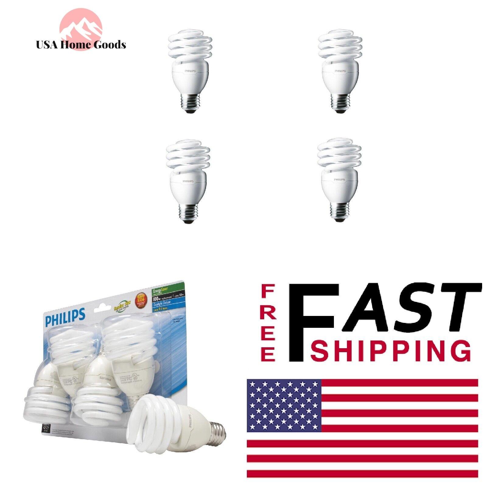 Philips 433557 23W 100 watt T2 Twister 6500K CFL Light Bulb