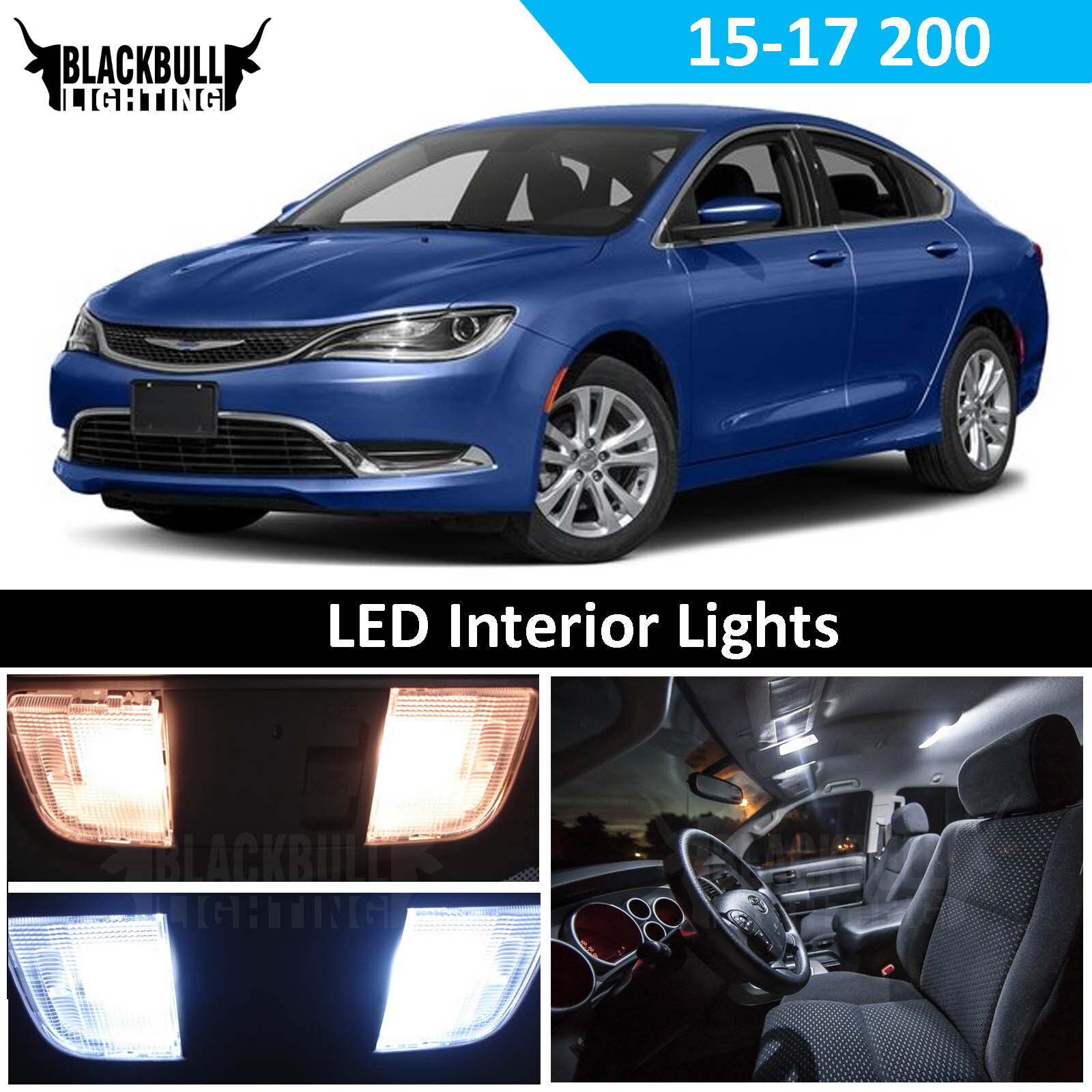 Details About White Led Interior Light Replacement Kit For 2017 Chrysler 200 11 Bulbs