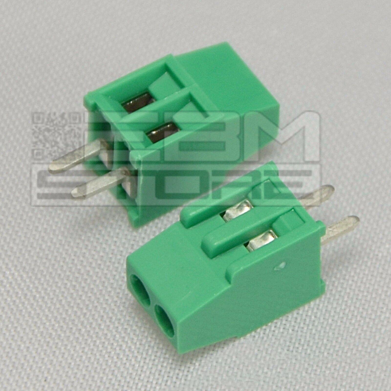 2 pz morsetti 2 poli passo 2,54mm Morsettiera PCB circuito stampato - ART. AZ05