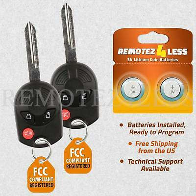 Replacement for Ford Lincoln Mercury Mazda Keyless Remote Car Key Fob 3btn Pair
