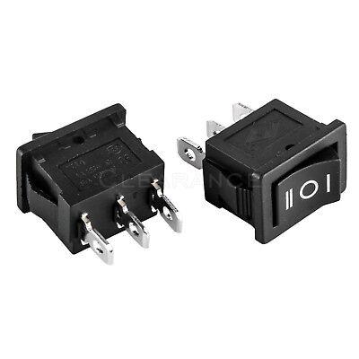 2x 3-position Rocker Switch 12v Car Ac 6a250v 3-pin On-off-on 12 X 34