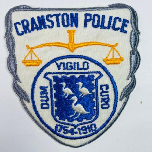 Cranston Police Rhode Island Patch (A5)