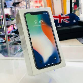 BRAND NEW SEALED IPHONE X 64GB SILVER APPLE WARRANTY TAX INVOICE
