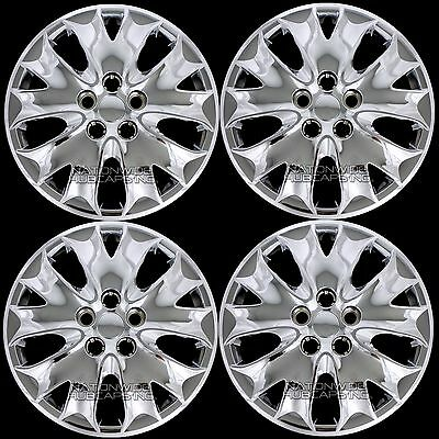"4 Chrome 2013 2014 Ford Fusion S 16"" Wheel Covers Bolt On Full Rim Hub Caps New"