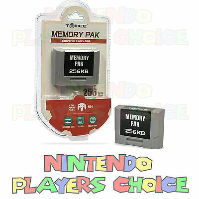 256k Memory Card for Nintendo 64 - N64 Controller Pack Pak - NEW FACTORY SEALED