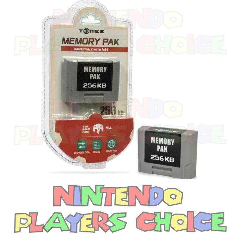 Nintendo 64 Memory Card 256k  - N64 Controller Pack Pak - NEW FACTORY SEALED