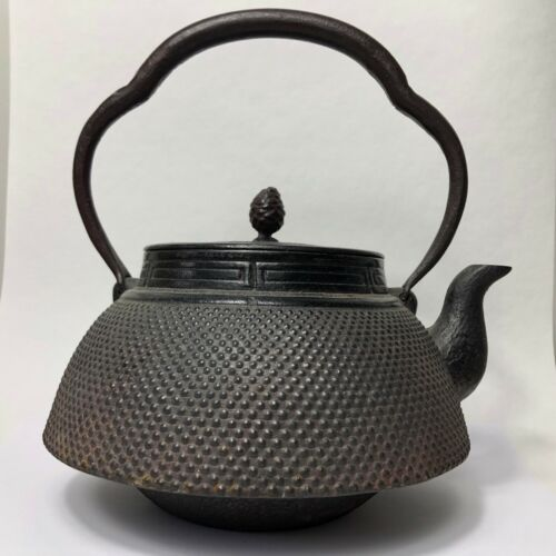 Antique Japanese Tetsubin Cast Iron Teapot Tea Kettle