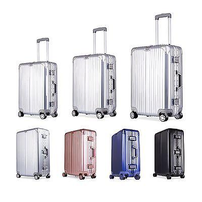 20''24''28'' Aluminum TSA Lock Wheel Rolling Luggage Trolley Suitcase Travel Bag