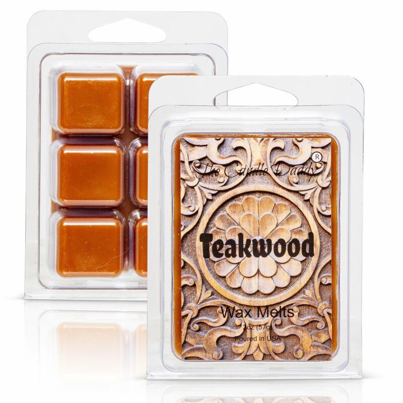 Teakwood - Rustic, Earthy, Sweet Scented Melt- Maximum Scent Wax Cubes/Melts- 1