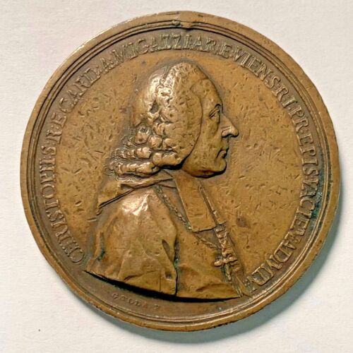 Christoph Anton Migazzi, Archbishop and Cardinal in Vienna Bronze Medal of 1761