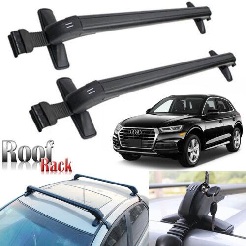 """43/"""" Car Top RoofRack Cross Bar Baggage No Rails Lockable For Audi A3 A4 A5 A6 Q5"""