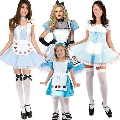 Kids Adult Girls World Book Day Costume Fancy Dress Size UK (Adult Alice)
