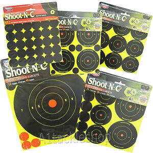Birchwood-Casey-Shoot-N-C-High-Viz-Shooting-Targets-Choose-Size-Variation