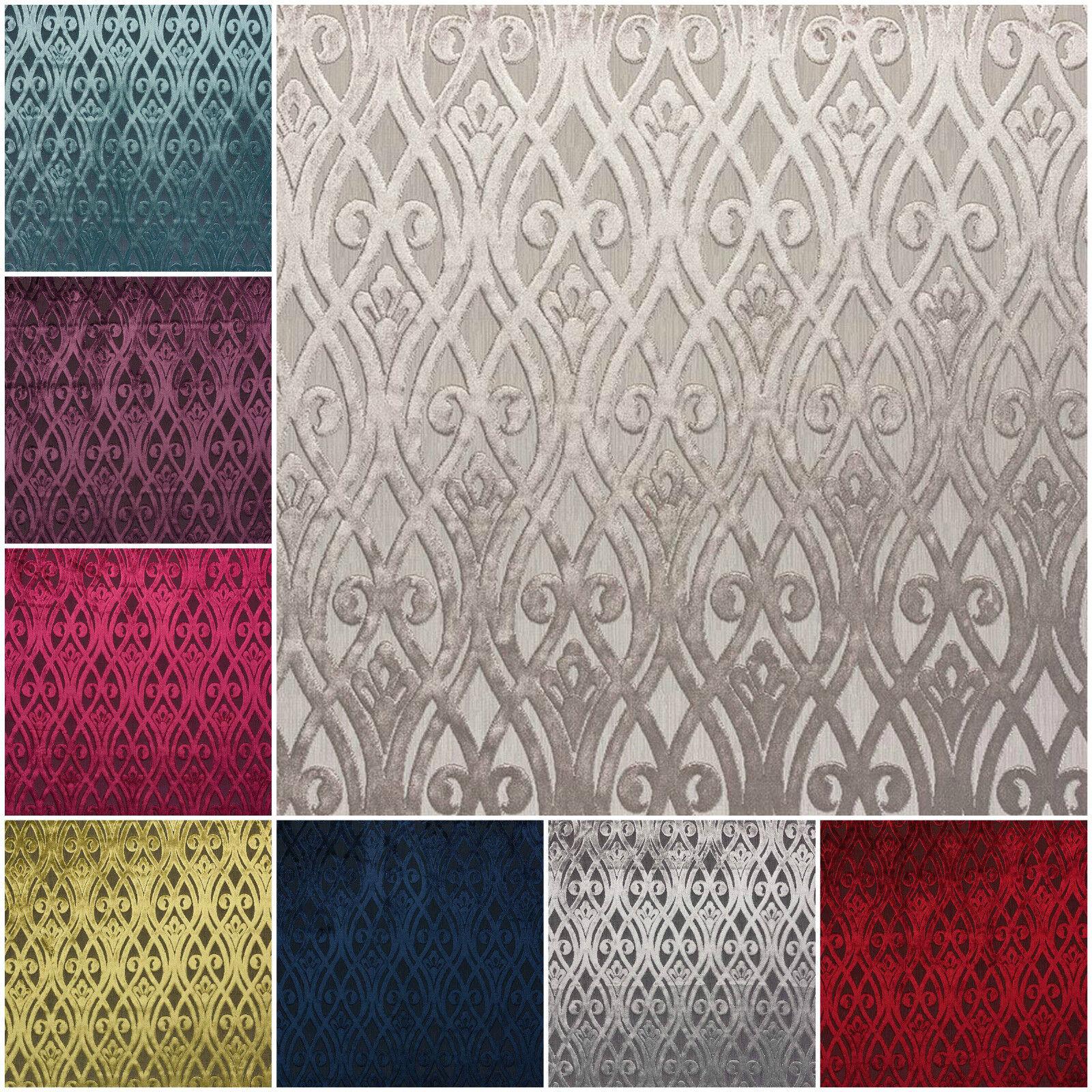 Fibre naturelle new york velvet art deco furnishing fabric for Art deco fabric