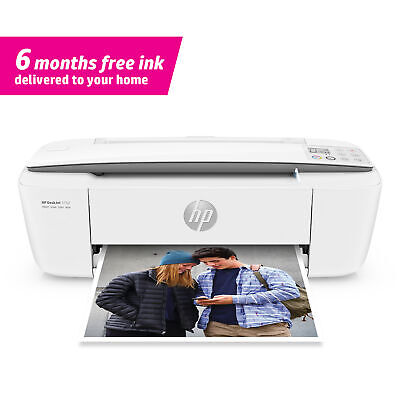 Brand New HP DeskJet 3752 Wireless All-in-One Compact Scan Copy Color Printer