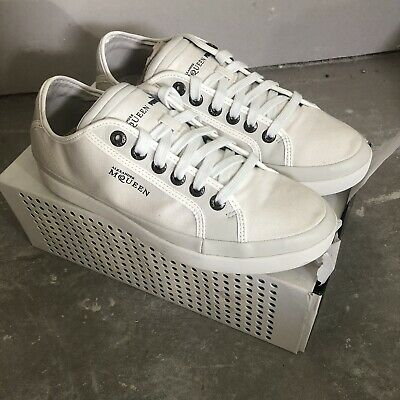 Alexander McQueen puma white brand new canvas trainers uk8