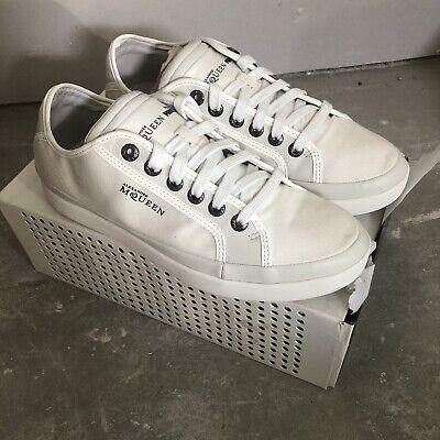 Alexander McQueen puma white brand new canvas trainers uk8