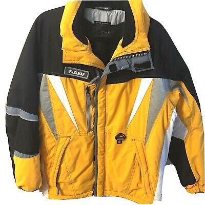 Authentic Colmar Sportwear Mens Sz 38 Ski Coat Jacket Yellow Black Made in Italy