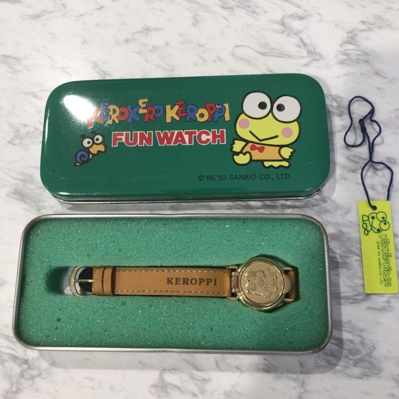 Kerokerokeroppi Fun Watch Vintage Sanrio W/ Tin  Kids