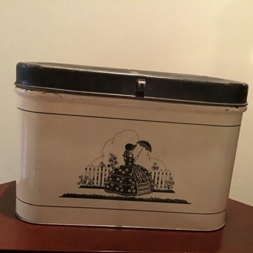Vintage Tin Metal Bread Box