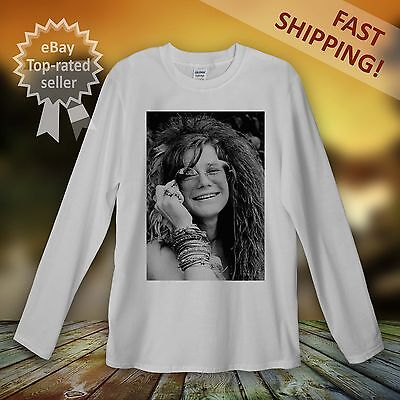 Janis Joplin Long Sleeve T-Shirt Men Women Unisex Woodstock Hippy Peace Clothing