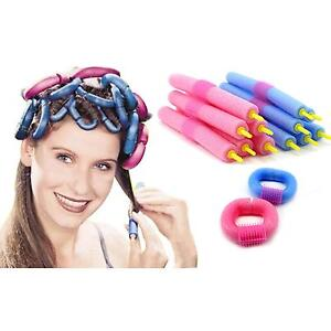 12pcs Bendy Flexible Twist Flex Rods Hair Hairdressing