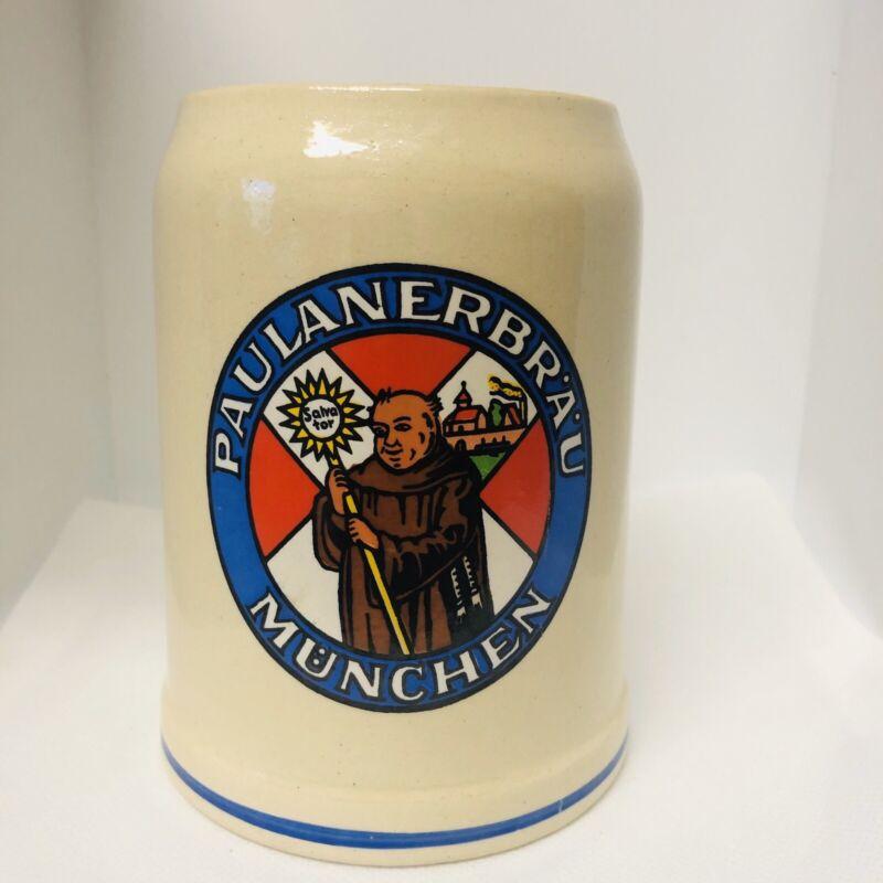 Paulaner Braue Munchen German Beer Stein 0.5L