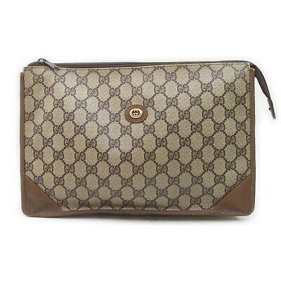 Vintage Gucci Clutch GG Browns PVC 1902395